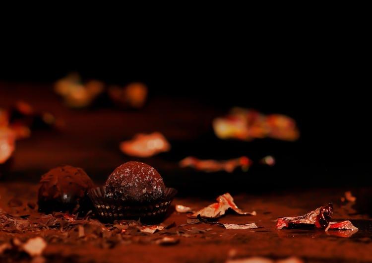 Trufas con chocolate